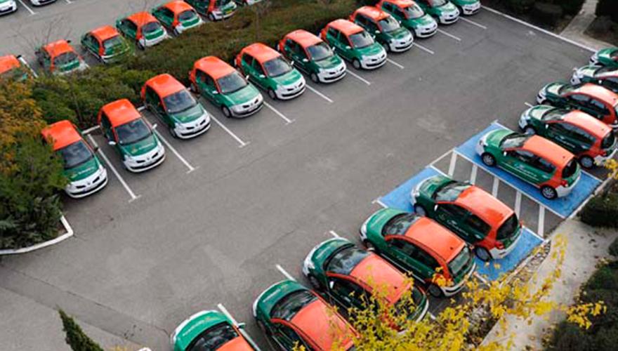 Flotte véhicules citadines en décoration total covering